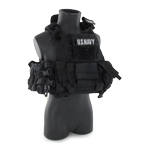 Flotation vest with armor plate