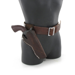 Cowboy cross draw pistol and holster set (Brown right)