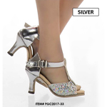 Female Open Heeled Shoes (Silver)