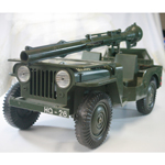 1/4 Ton GI JOE Jeep with 106mm Canon and trailer