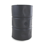 Battle Damaged Gasoline Drum (Grey)