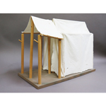 Wooden Camp Tent (Beige)