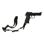 M9 Pistol with Retention Lanyard (Black)