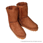 Shoes Series - Brown Color Leather Skin Boots