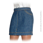 Uniform Series - Basic Blue Denim Long Skirt