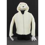 Female Hooded Fleece Jacket (White)