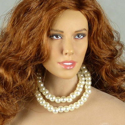Pearl Double Loop Necklace (White)