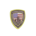 Corrections Hudson County New Jersey Patch (Black)