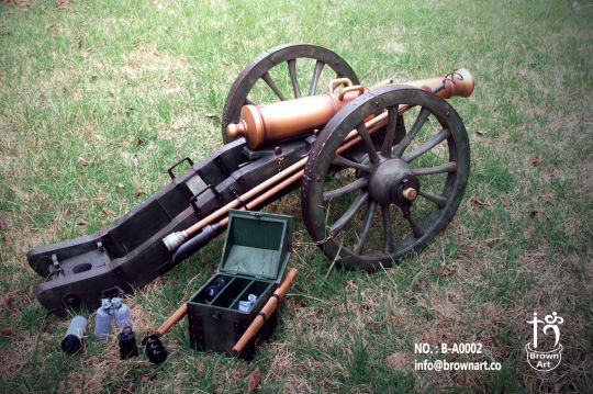 French Gribeauval 12 Pounder Cannon (Weathered Version)