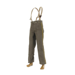 Gray trousers with slings