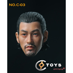 Asian Male Headsculpt with Hat and Axe