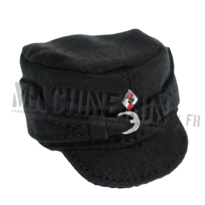 Black field cap with party insignia
