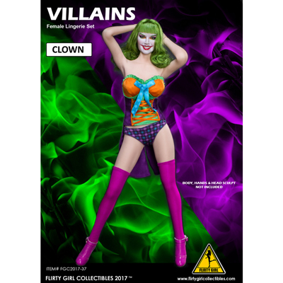 Female Villains Clown Set