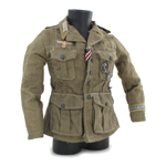 M41 Afrika Korps Jacket with Patches (Kaki)