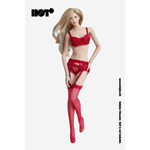 Female Lace Lingerie Set (Red)
