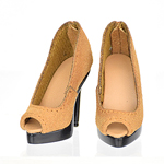 High Heels Female Catwalk Series 3 Shoes (Beige)