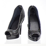 High Heels Female Catwalk Series 3 Shoes (Black)