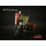 US Army WWII Harley-Davidson Motorcycle Die Cast (Damaged)