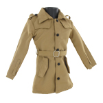 Trench Coat Vest (Beige)
