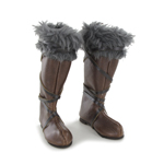 Leather Fur Boots (Brown)