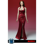 Asian Cheongsam Dress Set (Red)