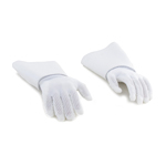 Flexible Gauntlet Gloved Hands (White)