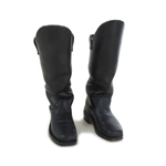 Leather Riding Horse Boots (Black)