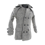 Trench Coat Jacket (Grey)