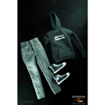 Black streetwear female clothes set