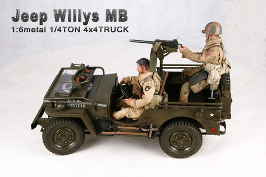 Willys Jeep Mb Jeep With Trailer And Armor Machinegun