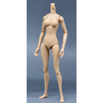 Caucasian Mermaid Posture Female Body (Small Bust)