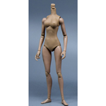 Hispanic Mermaid Posture Female Body (Small Bust)