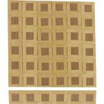 Wooden parquet pieces (x12) - check pattern (15cmx2,5cm)