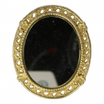 Diecast Antique Oval Mirror (Gold)