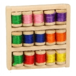 15 Spools of Thread Box (Beige)