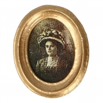 Frame with Woman Picture (Gold)