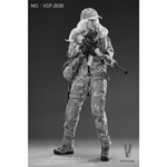 Digital Camouflage Women Soldier - Max Figur