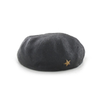 Yellow Star Beret (Black)