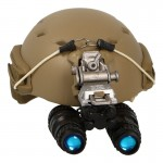 Fast Jumpable High Cut Helmet with AN/PVS-15 NVG (Coyote)