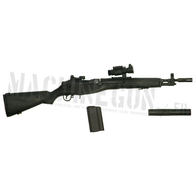 M14 SOCOM with silencer