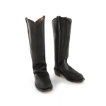 Western Mule Ear Boots (Dark Brown)
