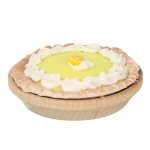 Lemon Pie with Wooden Plate (Yellow)