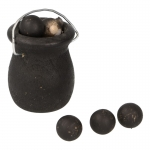 Barrel with Cannonballs (Black)