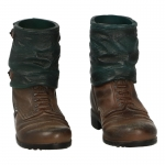 Ankle Boots with Gaiters (Brown)