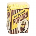 Large Size Hot Buttered Pop Corn Box (Yellow)