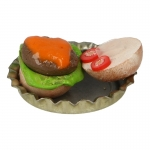 Cheeseburger with Diecast Plate (Brown)
