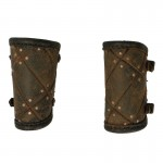 Leather Worn Forearm Protections (Brown)