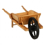 Wooden Country Wheelbarrow (Beige)