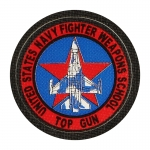 United States Navy Fighter Weapons School Top Gun Patch (Red)