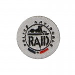 RAID Police Nationale Patch (White)